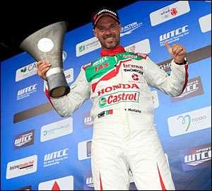 Tiago Monteiro com a Honda no WTCR