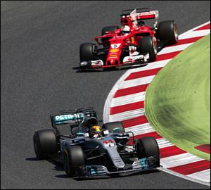 Hamilton vence duelo electrizante em Espanha