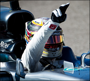 Domínio de Lewis Hamilton no GP dos EUA