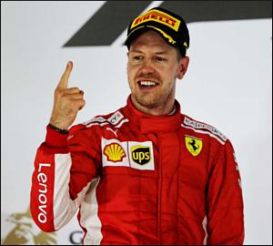 Sebastian Vettel bate Mercedes no Bahrein